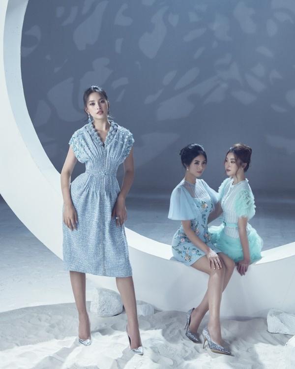 6 hoa hậu rực rỡ sắc màu trong váy dạ hội của NTK Lê Thanh Hòa
