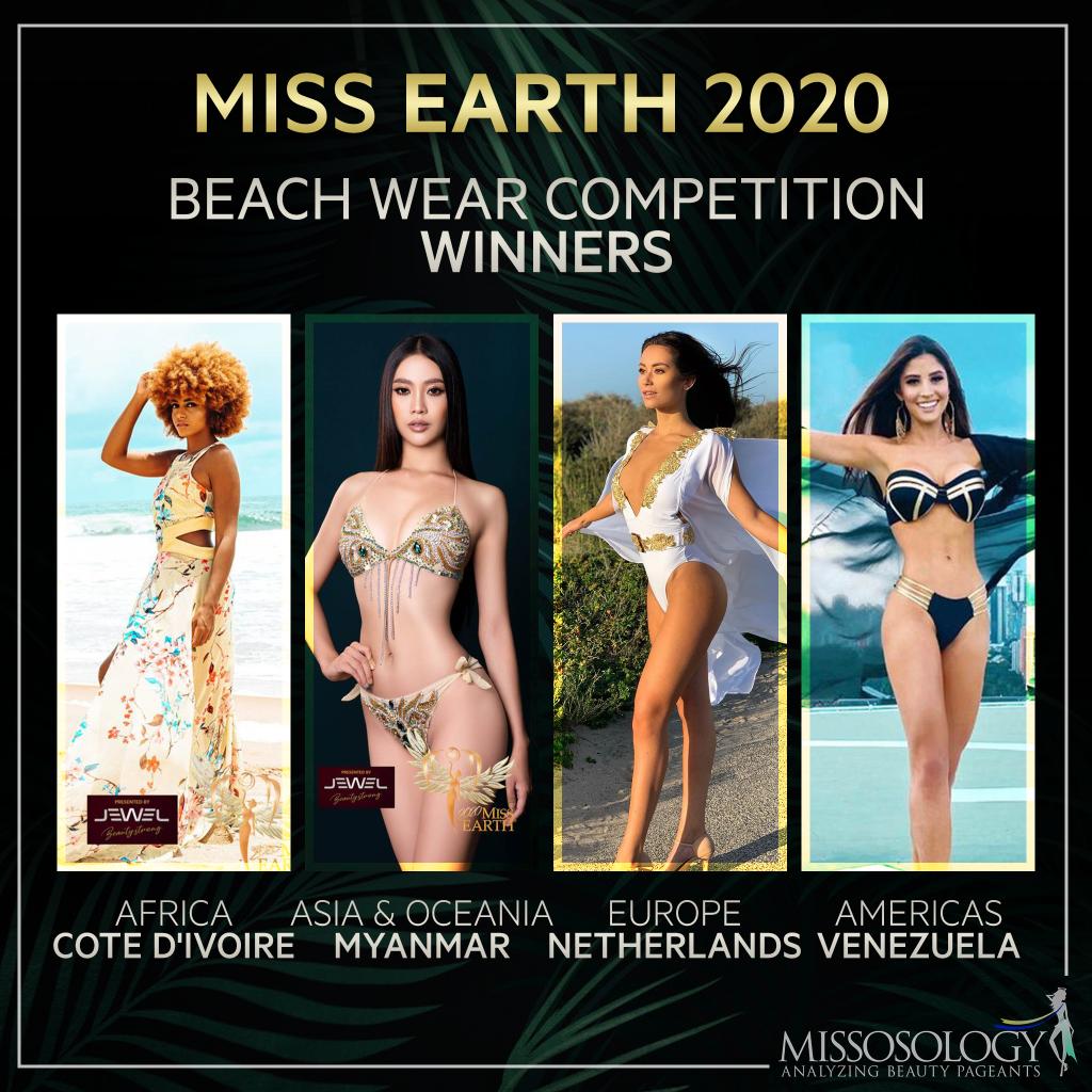 Lộ diện top 4 mỹ nhân mặc áo tắm đẹp nhất Hoa hậu Trái đất 2020