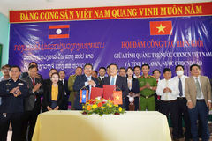 Quảng Trị xây dựng đường biên giới hòa bình, hợp tác phát triển