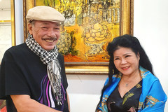 Nhạc sĩ Trần Tiến hết lời khen tranh của họa sĩ Văn Dương Thành