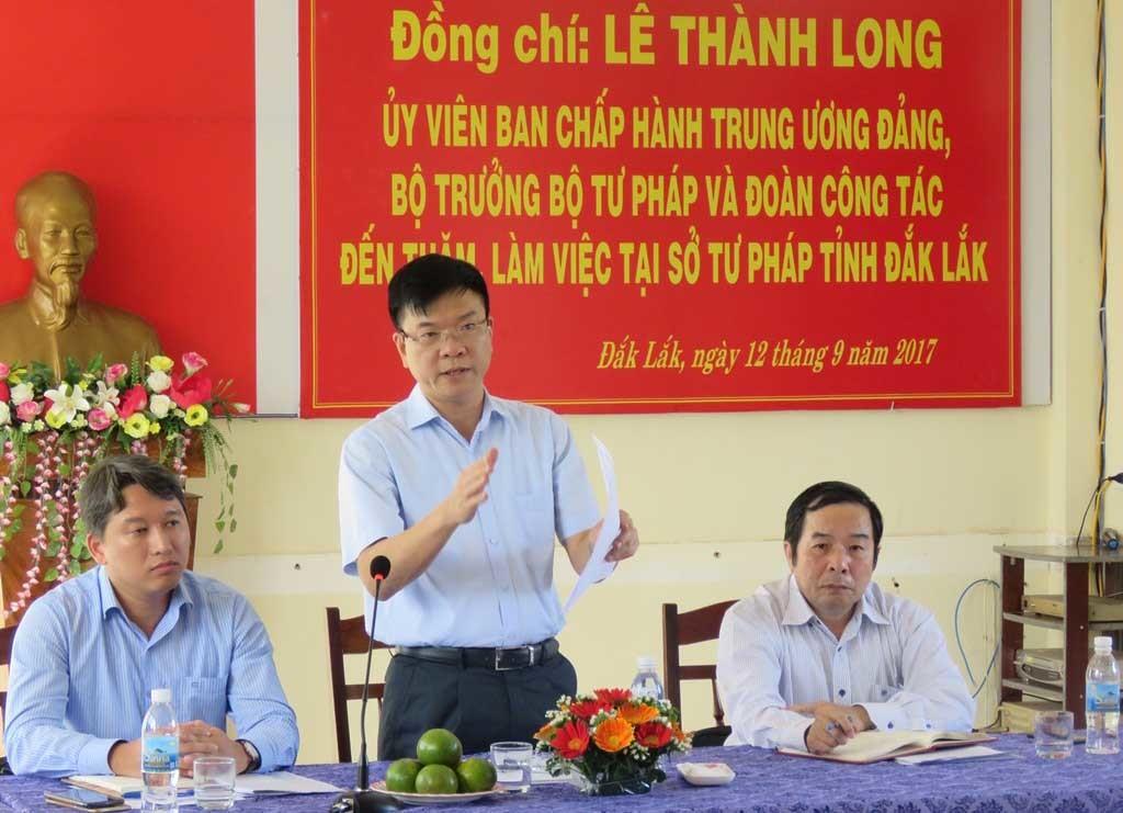 Bộ trưởng Tư pháp,Lê Thành Long