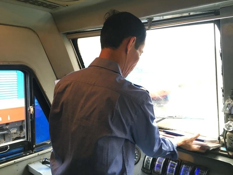 Lái tàu Hoàng Ngọc Sơn. Ảnh: Hạnh Thúy