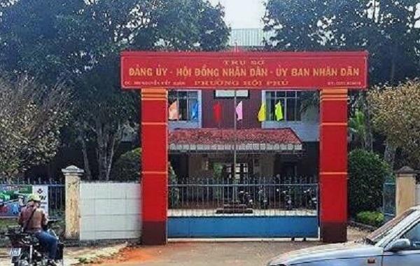 Trộm viếng UBND phường lúc rạng sáng đục 3 két sắt
