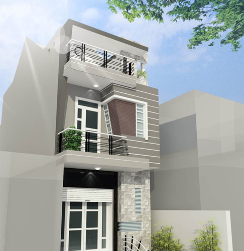 nhà đẹp, thiết kế nhà, mẫu nhà phố 2018