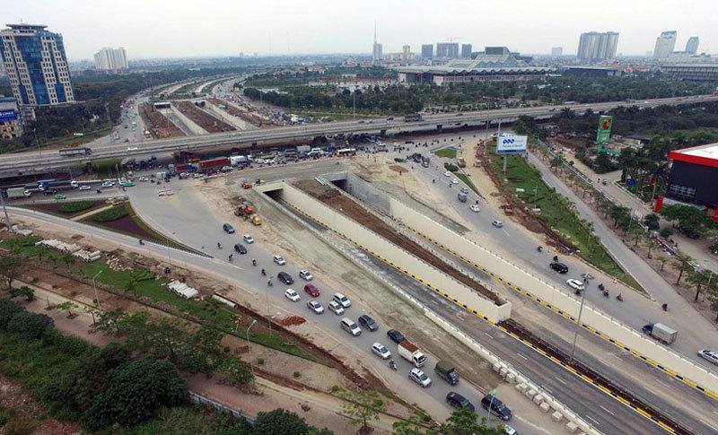 xén dải phân cách, mở rộng đường, đường Khuất Duy Tiến, Hà Nội