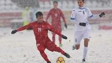 """Siêu phẩm """"cầu vồng tuyết"""" của Quang Hải đẹp nhất U23 châu Á"""