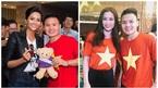 Hoa hậu H'Hen Niê chụp hình thân thiết bên cầu thủ Quang Hải