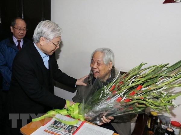 Tổng bí thư, Chủ tịch nước chúc thọ nguyên Tổng bí thư Đỗ Mười