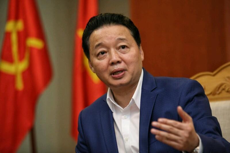 Bộ trưởng Trần Hồng Hà,Bộ Tài nguyên Môi trường,Trần Hồng Hà