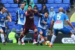 Messi bất ngờ dự bị, Barca bị Espanyol cưa điểm