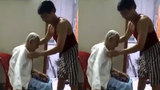 Xúc động hình ảnh con trai chăm sóc cho mẹ