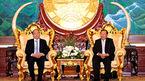 Thủ tướng hội kiến lãnh đạo Đảng, Nhà nước, Quốc hội Lào
