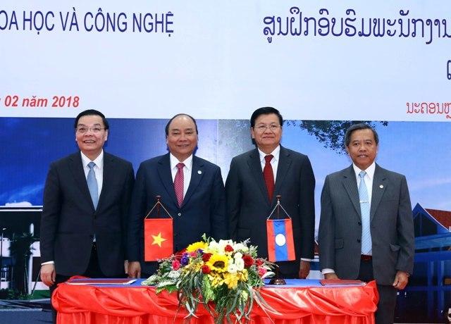 Ký kết thỏa thuận giữa 2 Bộ KH&CN Lào và Việt Nam