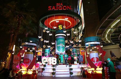 Không gian Tết ngập tràn cảm xúc của Bia Sài Gòn
