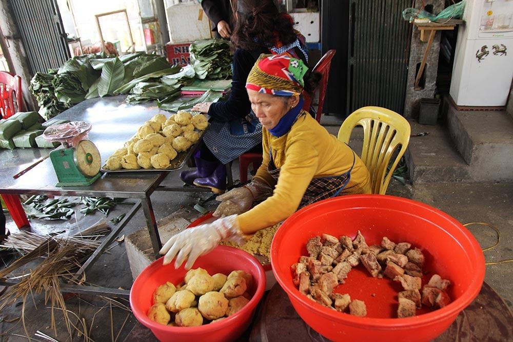 bánh chưng,Thái Nguyên,Tết Nguyên đán 2018,Món ngon Thái Nguyên