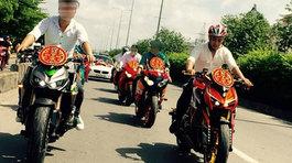 Hàng chục xe sang của đoàn rước dâu thi thố tốc độ trên đường lộ tại Hà Tĩnh