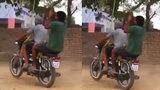 Sáng tạo trò chơi mới: Đánh đu bằng xe máy