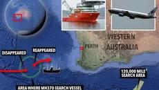 Tàu tìm kiếm máy bay MH370 cũng mất tích bí ẩn