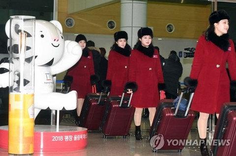 đội cổ vũ đẹp gái của Triều Tiên