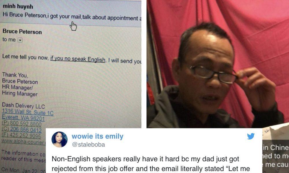 Ông bố bị xúc phạm vì viết sai ngữ pháp tiếng Anh