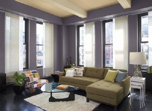 Phòng khách đẹp táo bạo đón năm mới với ý tưởng sơn màu đậm
