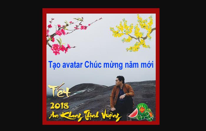 Hướng dẫn lồng ảnh tạo avatar Chúc mừng năm mới