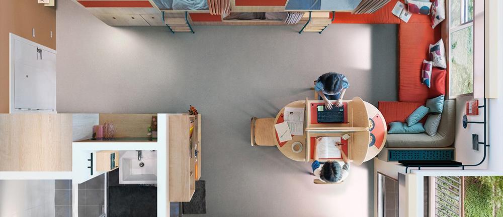 Cảnh khó tin trong căn hộ 12 m2: Vừa ở vừa làm việc