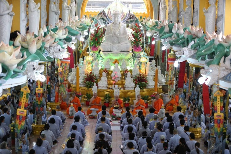 Tết Mậu Tuất 2018,Tết cổ truyền 2018,Tết nguyên đán 2018,Lễ chùa đầu năm,Đạo Phật,Chữ Tâm