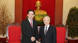 Tổng bí thư Nguyễn Phú Trọng tiếp Đại sứ Trung Quốc đến chào từ biệt