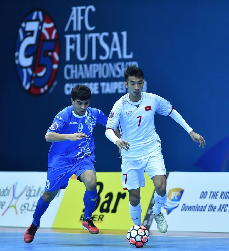 futsal Việt Nam,futsal Uzbekistan,Futsal châu Á 2018,Kết quả bóng đá