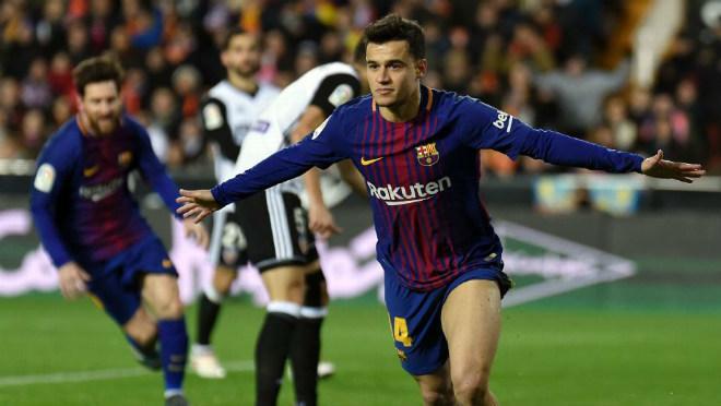 Barcelona,Valencia,Cúp nhà Vua Tây Ban Nha,kết quả bóng đá,Messi,Coutinho