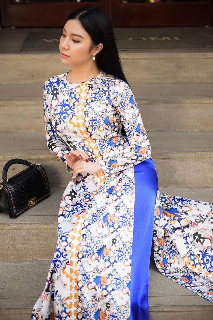 Hương Baby,Hạnh Sino,áo dài