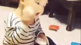 Chết cười xem bé trai đánh phấn trang điểm