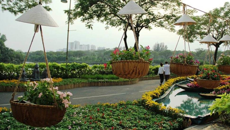 Hồn quê yên bình ở 'phố nhà giàu' Sài Gònngày cận Tết