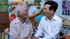 Cái nắm tay ấm áp của ông Võ Văn Thưởng với nhạc sỹ Nguyễn Văn Tý
