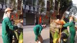 Thanh niên bắt công nhân vệ sinh môi trường quét rác khiến dư luận bức xúc