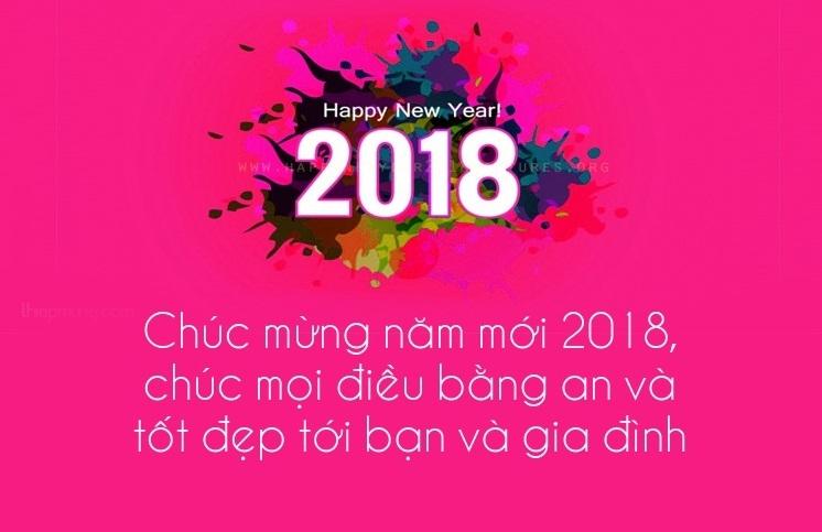 Lời chúc mừng năm mới 2018 bằng thiệp hay và ý nghĩa