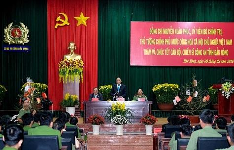 Thủ tướng thăm hỏi, chúc Tết lực lượng vũ trang tỉnh Đắk Nông