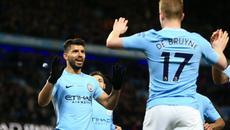 """Aguero """"nổ"""" 4 bàn, Man City vùi dập Leicester"""
