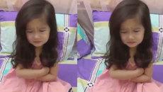 """Cô bé váy hồng """"thề lên thề xuống"""" để được mẹ cho nghỉ tết"""
