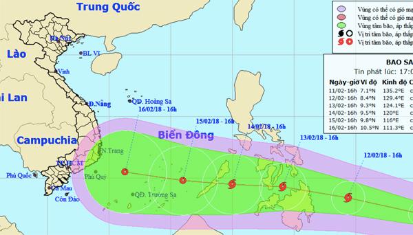 tin bão,bão Sanba,bão số 2,tin bão mới nhất,cơn bão số 2