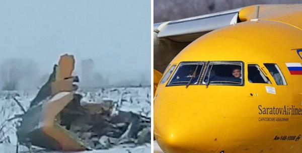 Video  đầu tiên về hiện trường rơi máy bay Nga