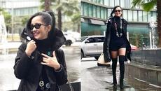 Diva Hồng Nhung xuất hiện cực ngầu trên phố