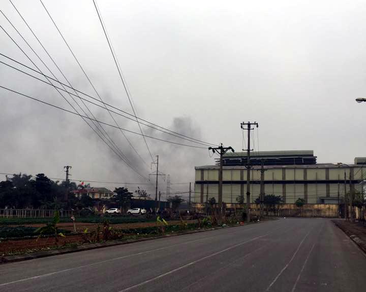 nổ nhà máy,nổ nhà máy thép,Hà Nội
