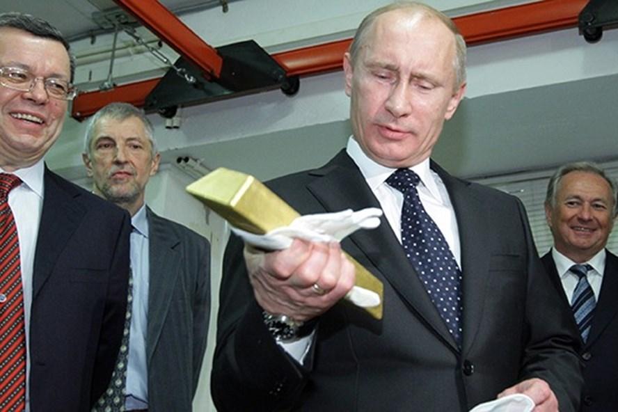 Lộ diện kho vàng 1.800 tấn dưới thời Tổng thống Putin