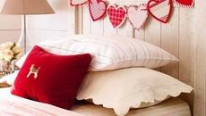 Phòng ngủ đẹp ngọt ngào sắc màu tình yêu ngày Valentine