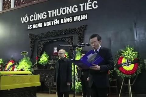 Ngậm ngùi tiễn đưa GS Nguyễn Đăng Mạnh - ảnh 7
