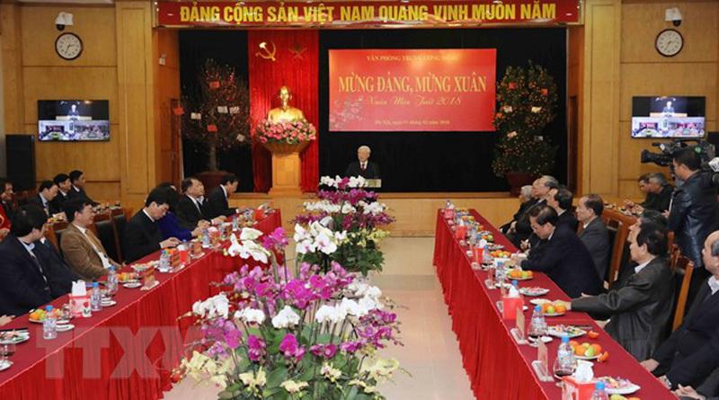 Tổng bí thư Nguyễn Phú Trọng,Nguyễn Phú Trọng,Tết Việt 2018