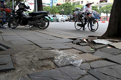 Kết luận bất ngờ về dự án lát đá vỉa hè tại Hà Nội