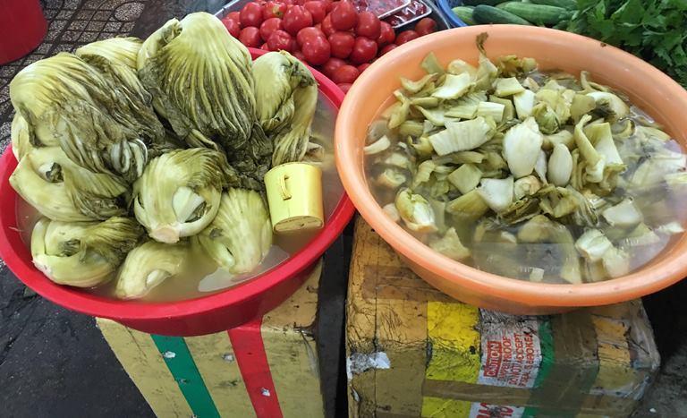 dưa muối,thực phẩm bẩn,dưa cà